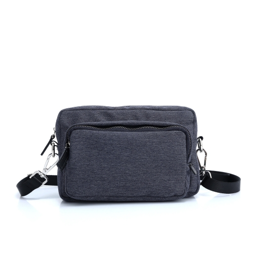 Men's shoulder bags with leather trims